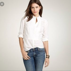 J. Crew ruffle button up